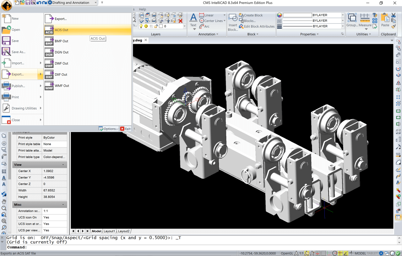 Cms intellicad compatible cad software with dwg support for Online cad drawing software